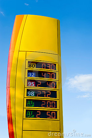 Gas prices stand