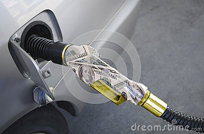 Gas Pump Gold nozzle