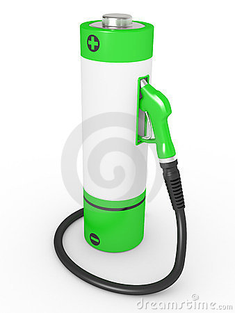 Gas pump nozzles in a fuel station