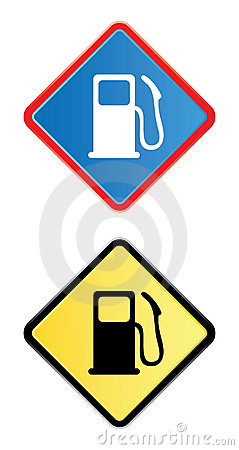 Gas pump road sign