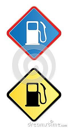 Gas pump road sign