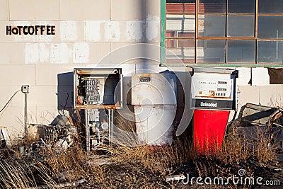 Gas pumps vintage