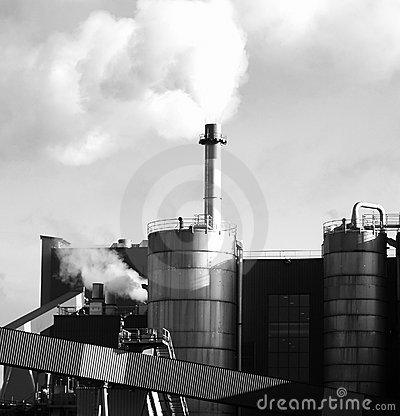 Gas rejection of the chimney factory