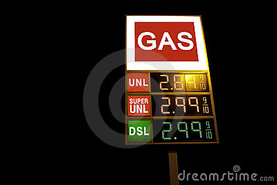 Gas sign digital