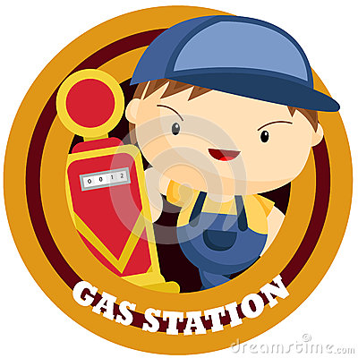 Gas Station Logo Stock Vector - Image: 48353121