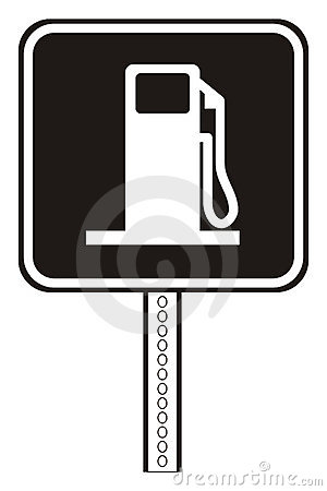 Gas station plate