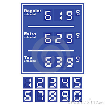 Free Gas Station Price Display Royalty Free Stock Photo - 6690915