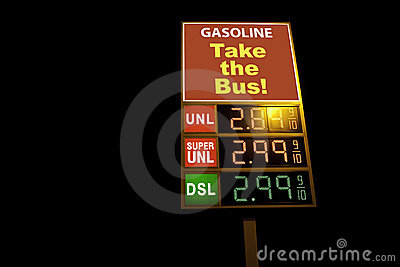 Gas station sign that says