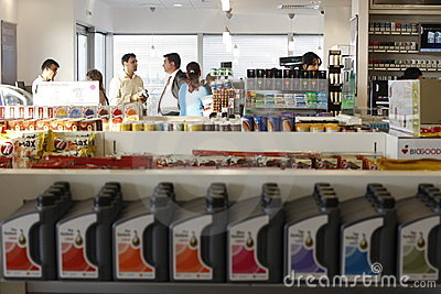 Gas station store Editorial Image
