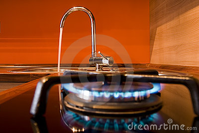 Gas stove and water tap