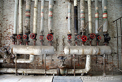 Gas and water pipes
