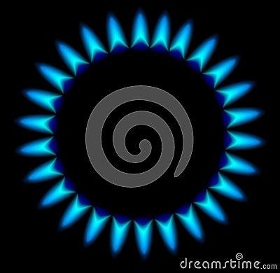 Gasbrännare för gasugn