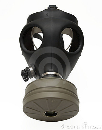Gasmaske getrennt