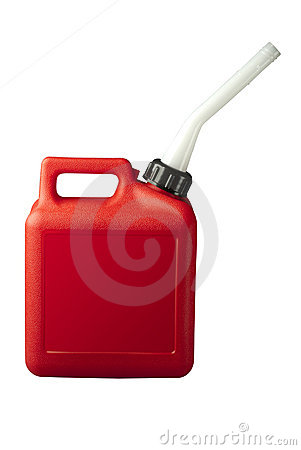 Gasoline can with clipping path