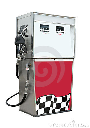 Gasoline pump, isolated