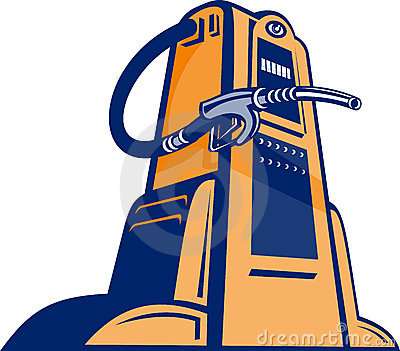 Gasoline pump station nozzle