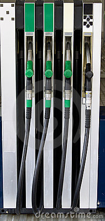 Gasoline station fuel pumps