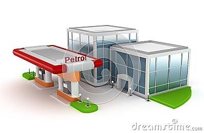 Gasoline Station and market