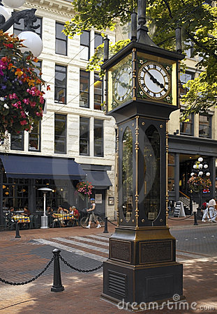 Gastown Steam Clock - Vancouver - Canada Editorial Photo