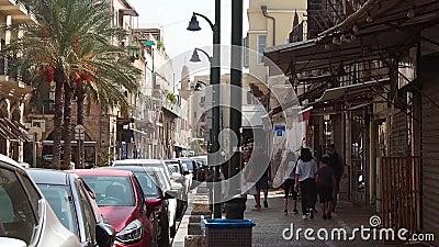 Gata i Jaffa israel arkivfilmer