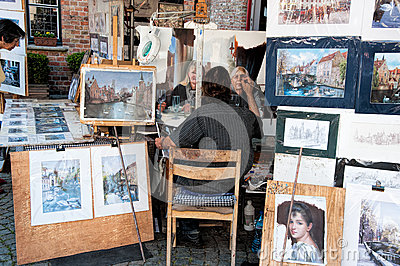 Gatakonstnär Redaktionell Arkivfoto