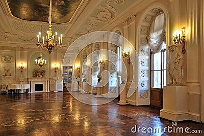 gatchina palace white hall stock photo image