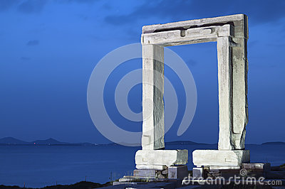 Gate of Apollon at Naxos island