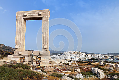Gate of Apollon at Naxos island, Greece