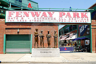 Gate B entrance to Fenway Park Editorial Stock Photo