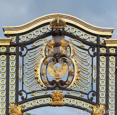 Gate by Buckingham Palace in London