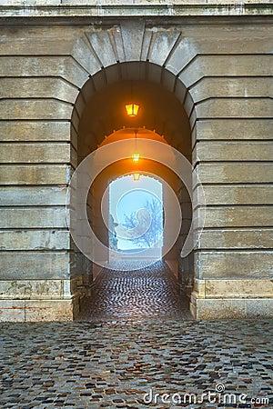 Gate in Buda Castle, Budapest