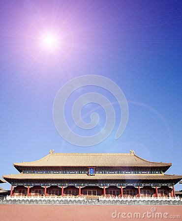 Gate building of forbidden city,beijing