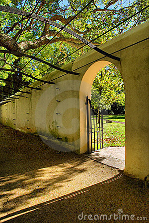 Gate into garden