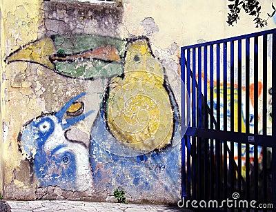 Gate on the graffiti