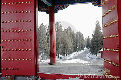 Gate in GuGong (Forbidden City, Zijincheng)