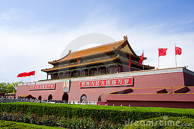 Gate of Heavenly Peace (Tiananmen) Editorial Stock Image