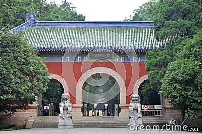 Gate of Linggu Temple, Nanjing, China