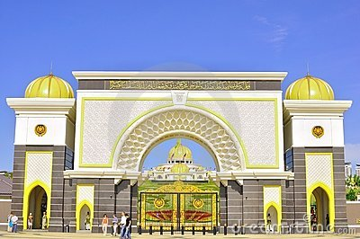 The gate of Malaysia national palace Editorial Image