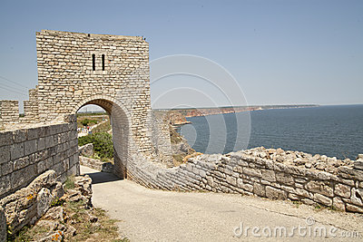 The gate of the medieval fortress