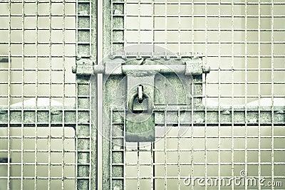 Gate padlock