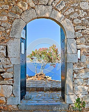 Gate in Palamidi fortress, Nafplio, Greece