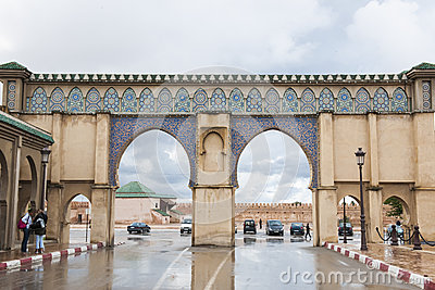 Gate in Rabat, Morocco Editorial Image