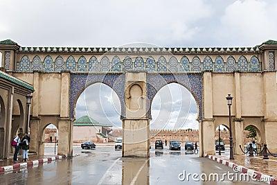 Gate in Rabat, Morocco Editorial Image
