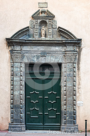 The gate of the Saint Tropez church