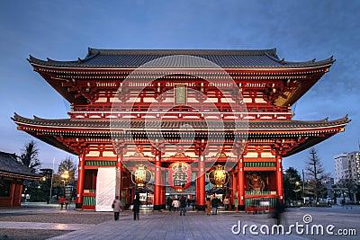 Gate at Senso-ji Temple, Asakusa, Tokyo, Japan