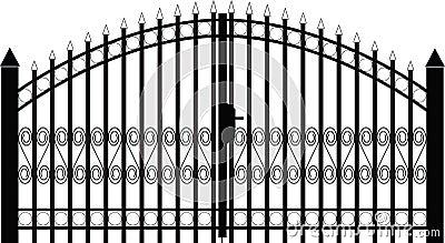 Gate silhouette