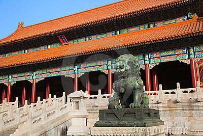Gate of Supreme Harmony. Forbidden City. China.