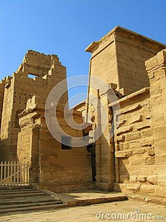 Gate of the temple of Medinet Habu. Luxor, Egypt