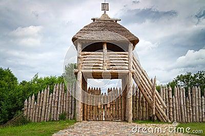 Gate to ancient trading faktory in Pruszcz Gdanski