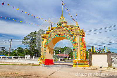 Gate to the of buddhism temple